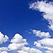 Blue Cloudy Sky Panorama Poster