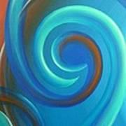 Cosmic Swirl By Reina Cottier Poster