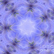 Blue Crystallized 1  Poster