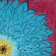Blue Daisy Poster