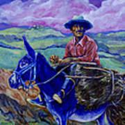 Blue Donkey Poster