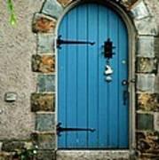 Blue Door In Baltimore Poster