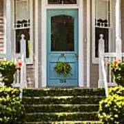 Blue Door  Ivy Stairs Poster