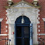 Blue Entrance Door Poster