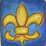 Blue Fleur De Lis Poster