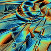 Blue Flowpaper Solarized Poster