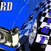 Blue Ford 351 Gt Poster