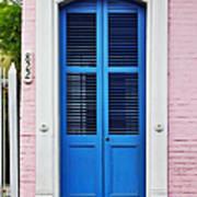 Blue Front Door New Orleans Poster