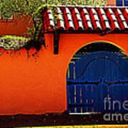 Blue Gate In Santa Fe Poster
