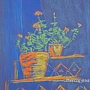 Blue Geranium Poster by Marcia Meade