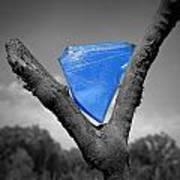Blue Glass Art Poster