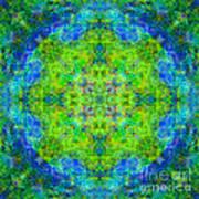 Blue Green Mandala Poster