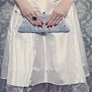 Blue Handbag Poster