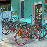 Blue Heaven Key West Bicycles Poster