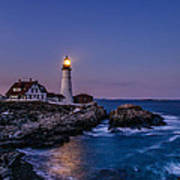 Blue Hour At Portland Head Lighthouse Poster