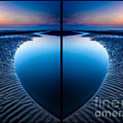 Blue Hour Diptych Poster