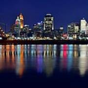 Blue Hour In Cincinnati Poster