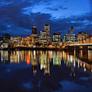 Blue Hour Reflection II Poster