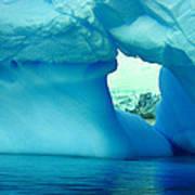 Blue Iceberg Antarctica Poster