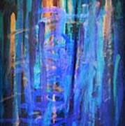 Blue Impression Poster