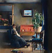 Blue Interior Poster