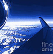 Blue Jet Pop Art Plane Poster