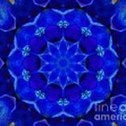 Blue Kaleidoscope  Poster by Annette Allman