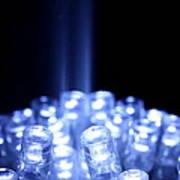 Blue Led Lights With Light Beam Poster