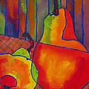 Blue Line Pears Poster by Blenda Studio