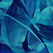 Blue Linear Mesh No 1 Poster