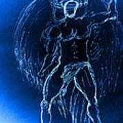 Blue Male Angel Poster