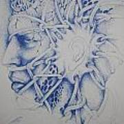 Blue Man Poster by Moshfegh Rakhsha