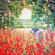 Blue Mare's English Summer Garden Poster