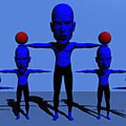 Blue Men Poster