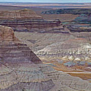 Blue Mesa At Petrified Forest National Park-arizona Poster