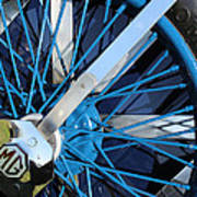 Blue Mg Wire Spoke Rim Poster