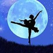 Blue Moon Ballerina Poster