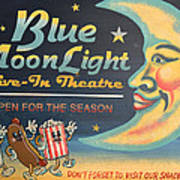 Blue Moon Light Poster by Sherry Dooley