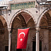 Blue Mosque Courtyard Portico Poster