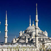 Blue Mosque In Istanbul Poster