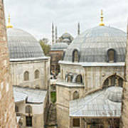 Blue Mosque View From Hagia Sophia Poster