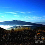 Blue Mountain Landscape Umbria Italy Poster