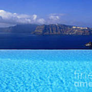 Blue On Blue Poster by Aiolos Greek Collections