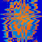 Blue Orange Abstract Poster