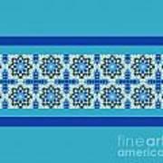 Blue Patchwork 2 Poster