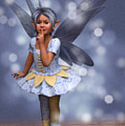 Blue Pixie Poster