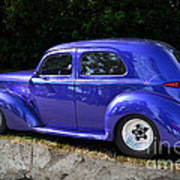 Blue Restored Willy Car Poster