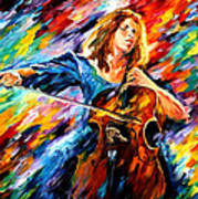 Blue Rhapsody - Palette Knife Oil Painting On Canvas By Leonid Afremov Poster