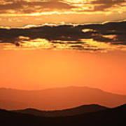 Blue Ridge Parkway Sunset-north Carolina Poster