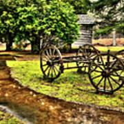 Blue Ridge Parkway Vintage Wagon In The Rain II Poster by Dan Carmichael